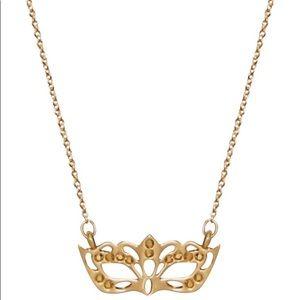 Kate Spade ♠️ NWT Gold Masquerade Mask Necklace